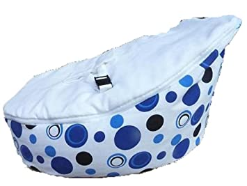 LCY Baby Bean Bag Chair Blue Circles White UNFILLED