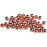 PandaHall Elite Brass Round Bead Spacers Rose Gold Craft Findings 3mm about 100pcs/bag