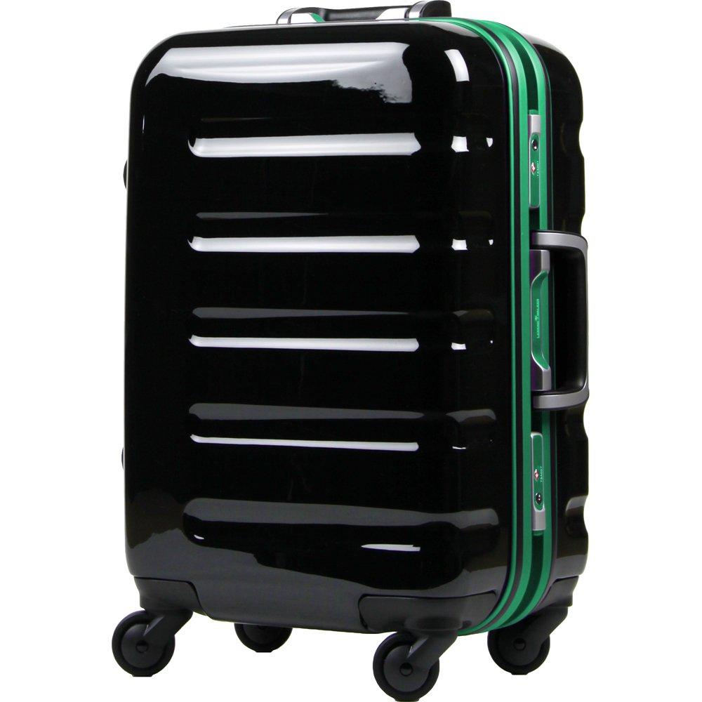 [レジェンドウォーカー] legend walker スーツケース  31.5L 3.5kg 機内持込可 ヒノモトキャスター B00N4RA4IE ブラックグリーン ブラックグリーン