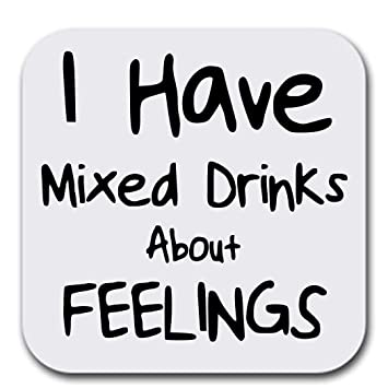 Drinking Quotes Amazon.com: Funny Drinking Quotes   Mixed Drinks   Coaster Set of  Drinking Quotes
