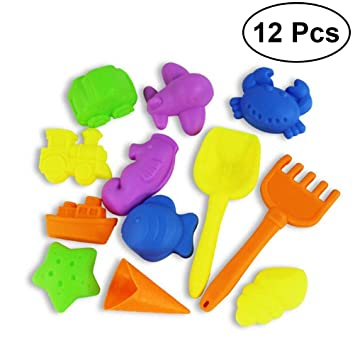 YeahiBaby 12 piezas de juguete de playa de arena Set de cubo de arena herramientas de
