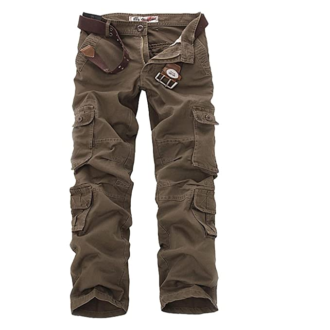 60398eef0d7ec Sunshey Mens Casual Combat Cargo Pants Trousers Loose Cotton Work Wear  Camouflage Trousers  Amazon.co.uk  Clothing