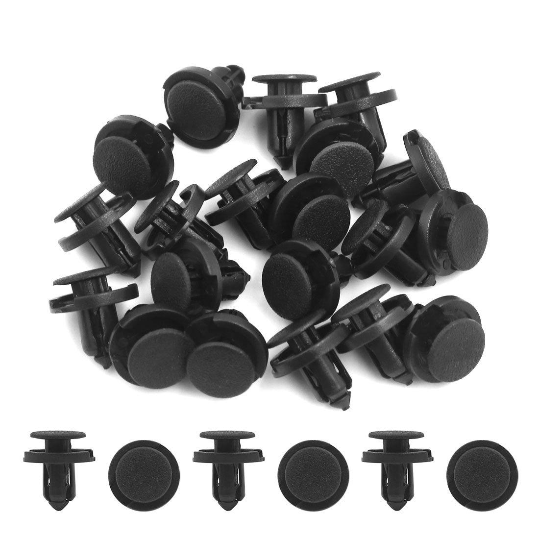 sourcingmap/® 20Stk 8mm Bohrung Dmr 18mm Kopf Plastik Nieten Befestigung Push Clip f/ür Auto de