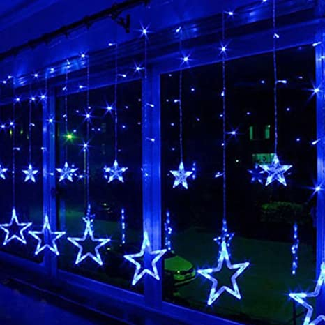star window lights dinowin 12 stars 138 led star window curtain light with 8 modes