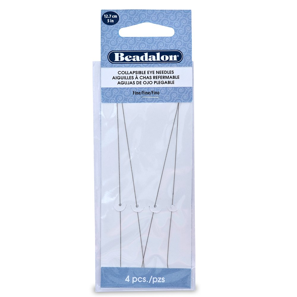 Beadalon Collapsible Eye Needles 5-Inch Fine 4 Pack (3 Pack)