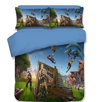 FJLOVE Fortnite Games Bedding Kids Set with Soft Lightweight Microfiber Comforter Cover (1 Duvet Cover