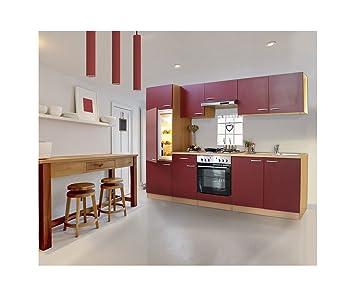 respekta cucina cucina riga in cucina da incasso 270 Faggio Rosso in ...