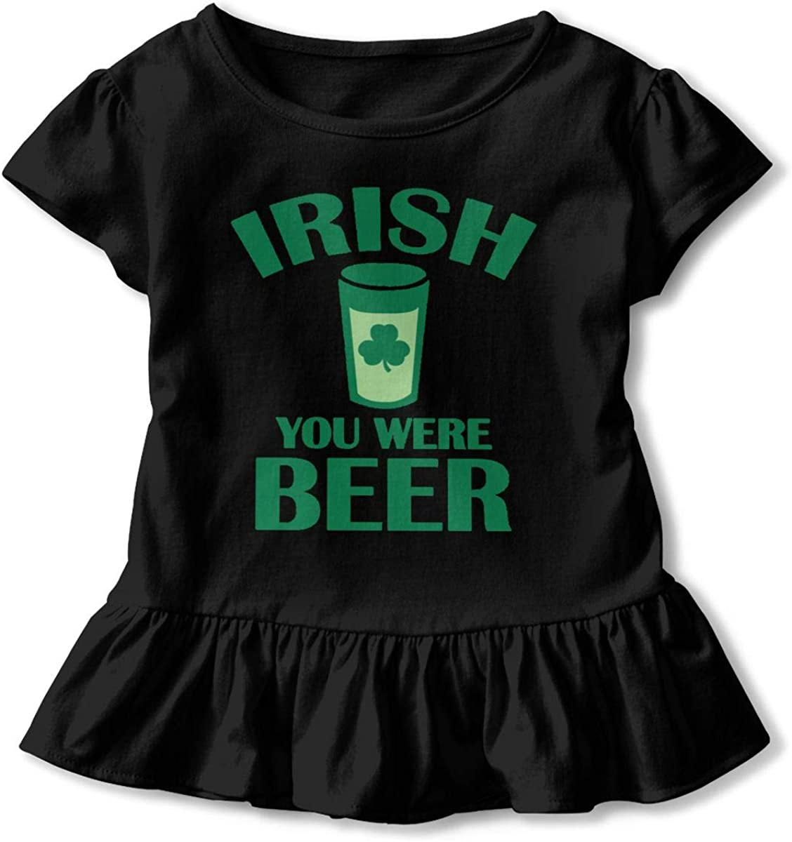 Not Available Irish You were Beer Shirt Baby Girls Ruffles Cute Tees for 2-6 Years Old Baby