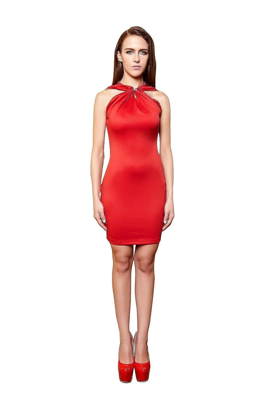 YiYiFS® Frauen schließen Nachtwäsche Nachtclub über Knie Ärmelloses Kleid ED113