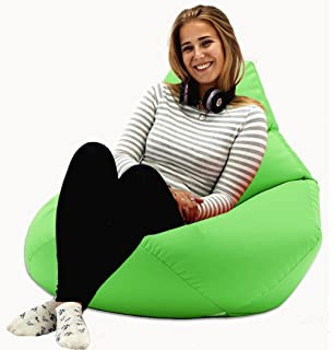 XX L Lime Highback Beanbag Chair Water Resistant Bean Bags For Indoor And Outdoor Use