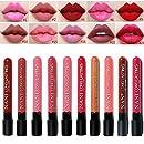 Neverland Beauty 10Pcs/Set Color Waterproof Liquid Makeup Lip Pencil Matte Lipstick Lip Gloss Super Long Lasting With Gift Case Bag (SET-SMT)