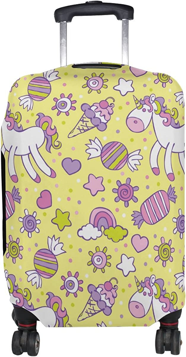 LAVOVO Unicorn Ice Cream Candy Rainbow Luggage Cover Suitcase Protector Carry On Covers