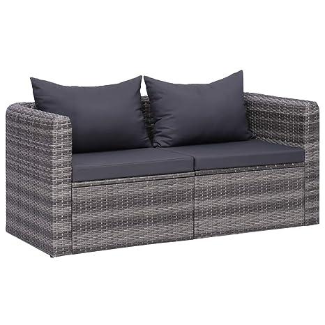 vidaXL - Sofá de 2 plazas para jardín, sofá de jardín ...