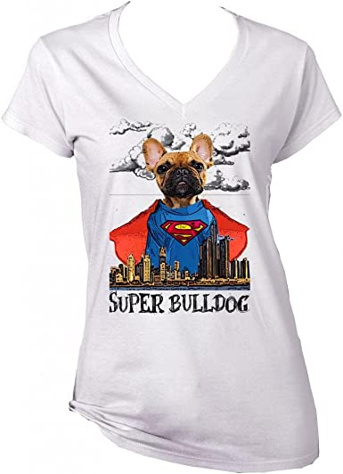 Teesquare1st SUPERMAN GINGER FRENCH BULLDOG Camiseta Blanca para ...