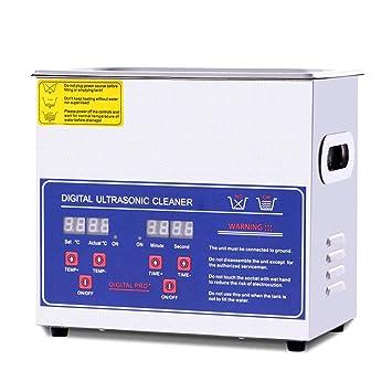 OOLIFENG Limpiador Ultrasónico Comercial Y Joyería Limpiador Ultrasónico con Calentador Y Control Digital para Latón Lente