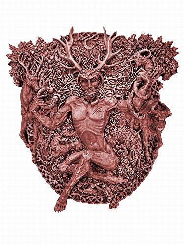 Cernunnos Celtic Horned God Plaque by Maxine Miller - Wood (Cernunnos Plaque)