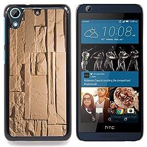 """For HTC Desire 626 Case , Patrón Polígono Limpio Azul Beige"""" - Diseño Patrón Teléfono Caso Cubierta Case Bumper Duro Protección Case Cover Funda"""