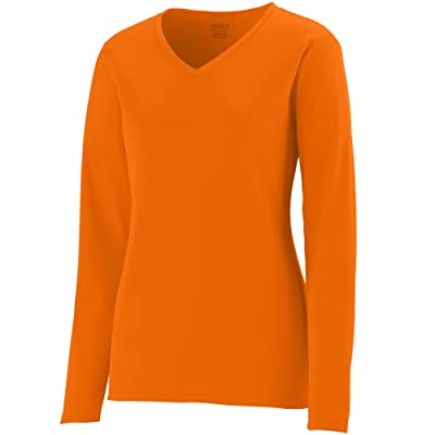 Augusta Sportswear Women's Long Sleeve Wicking t-Shirt: Sports & Outdoors