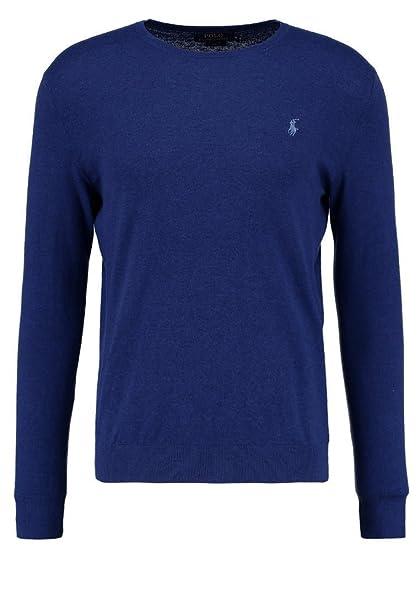 Polo Ralph Lauren A44X777AXY7LM maglione uomo slim fit girocollo cotone cashmere (L, BLU)