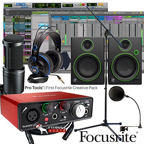 Focusrite Scarlett Solo 2Nd Home Recording Studio Bundle W  Mackie Cr4 At 2020 Mic