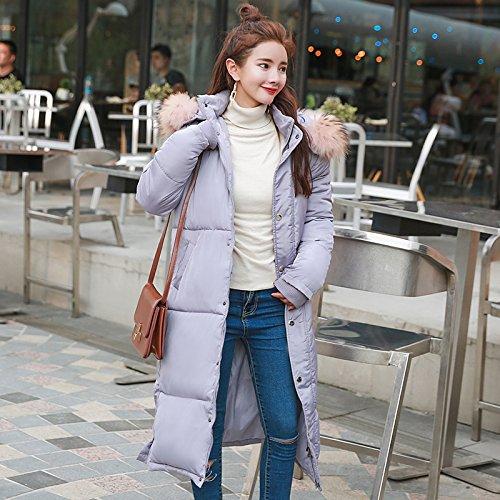 Loose Coat Sleeve Winter Cotton Cotton Long Coat Harajuku 'S Xuanku Grey Wind Women Coat Rdvx1w