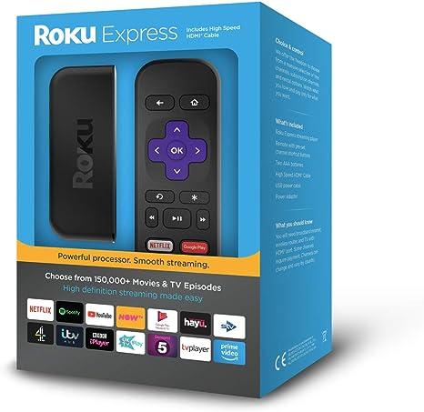 New Roku Express HD Streaming Media Player live sports,Black TV shows