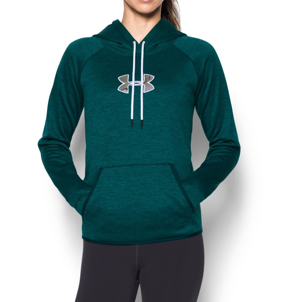 Under Armour Women's Icon Caliber Hoodie, Arden Green (919), X-Small