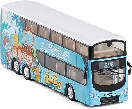 1:32 Autobús De Dos Pisos Bus Metal Tirar Juguete Vista Die Cast Niños Regalo