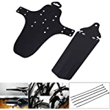 Broadroot 2pcs Road Cycling Bicycle Front Rear Mudguard Fenders Bike Mudguard Black for Mountain MTB