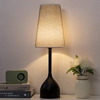 Lámpara de mesa decorativa alta negra - Lámpara de mesa moderna y ...