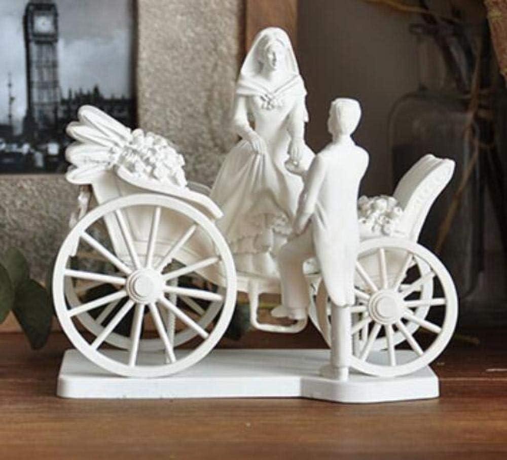 JYJYJY Adornos Escultura Estatuas Y Estatuillas Adornos Novia Y Novio Boda Coche Figura Decoraciones Escultura Estatua Tallada