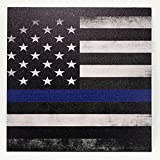 Infused Kydex USA: 1 Sheet of 7.5' x 7.5' x .080' Infused Kydex Material - Thin Blue Line Print