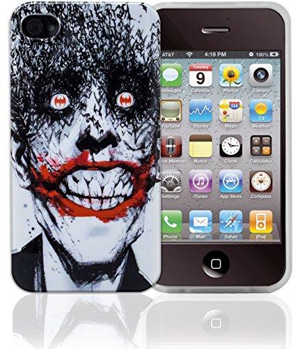 Phonix DC Comics original Joker Case mit Displayschutzfolie für Apple iPhone 4/4S