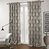 "IYUEGO Wide Curtains 120Inch-301Inch for Large Windows Country Jacqaurd Rod Pocket Top Blackout Curtains Drapes With Multi Size Customs 150"" W x 84"" L (One Panel)"