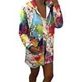 Logobeing Moda Sudadera Mujer con Capucha Abrigo de Otoño Tops de Manga Larga Chaqueta de Cremallera Outwear Tops