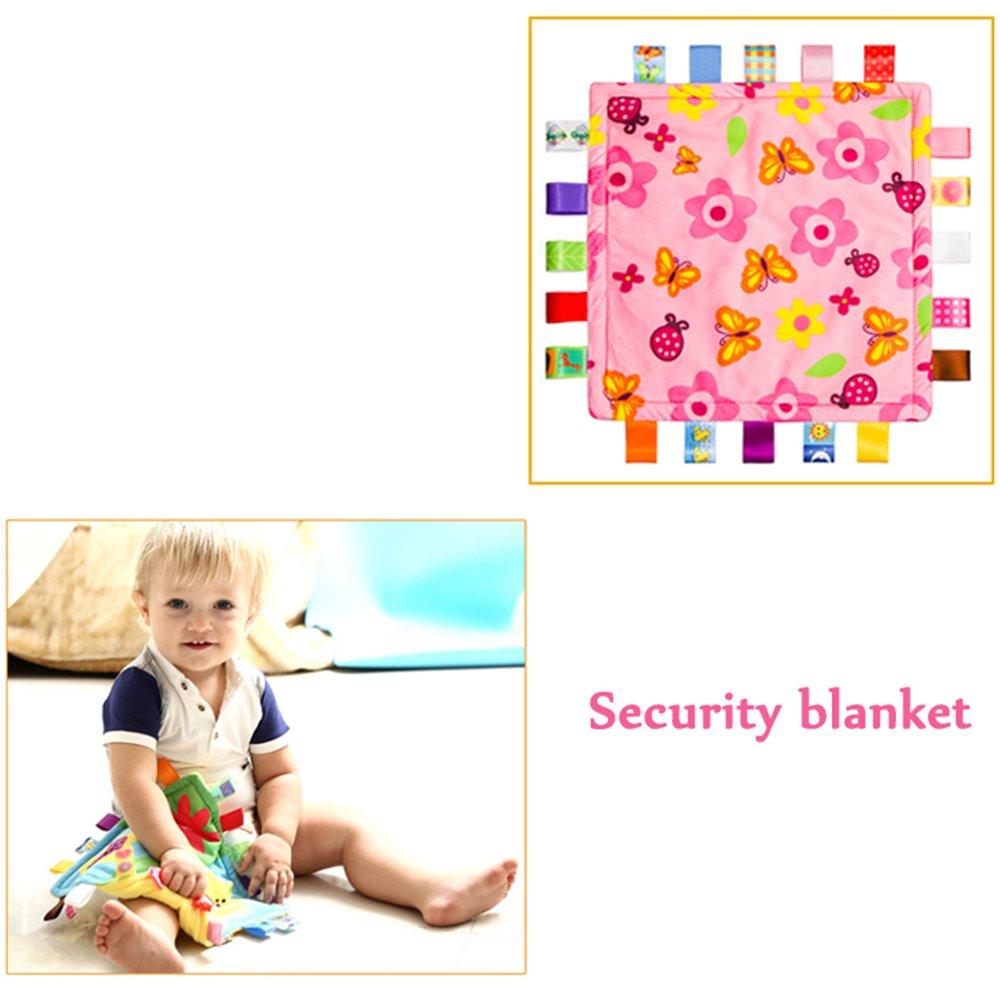 Inchant Manta personalizada con las etiquetas felpa del bebé Taggie Manta Manta de seguridad recién nacido: Amazon.es: Bebé