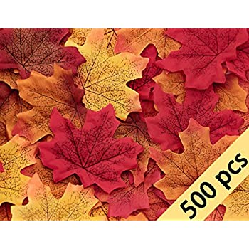 amazon com moon boat 500pcs fall artificial maple leaves