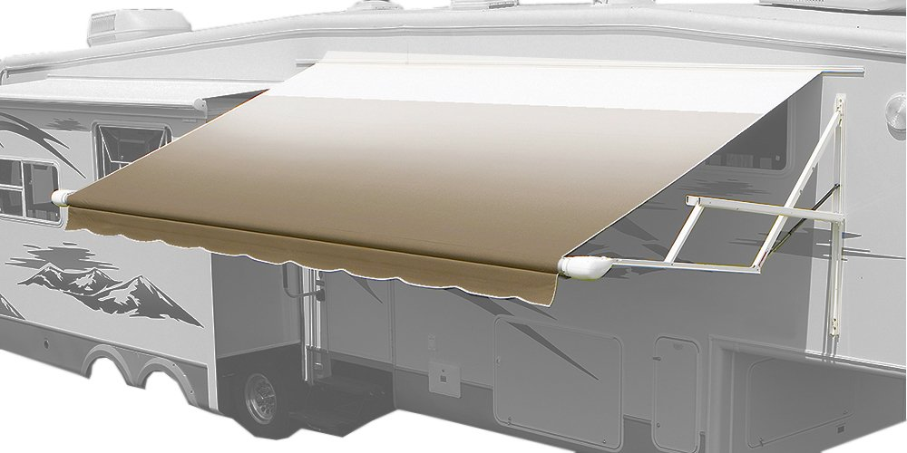 Carefree 8015LH00 Camel Fade White Wrap 15 Universal Vinyl RV Patio Awning Replacement Canopy Center arm to Center Arm