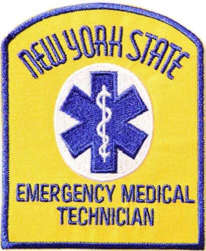 - NEW YORK STATE EMERGENCY MEDICAL TECHNICIAN PARAMEDIC EMT Logo T shirt Jacket Uniform Patch Iron on Embroidered Sign Badge Costume