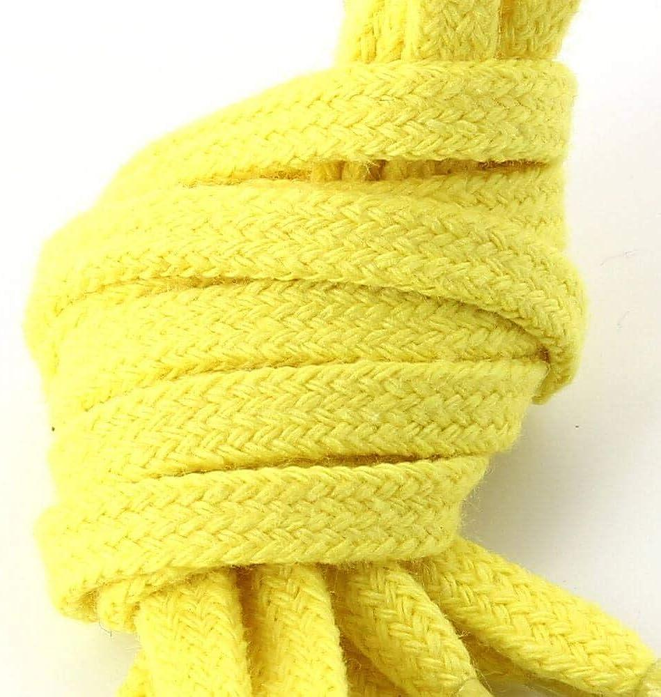 Les lacets Fran/çais Lacets Plats Coton Couleur Jaune Canari