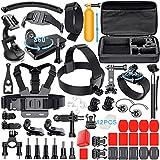 Leknes Camera Accessory Kit for GoPro Hero 5/Hero 5 Session/4/3+/3/2/1 SJ4000 SJ5000 SJ6000 DBPOWER AKASO Xiaomi Yi APEMAN WiMiUS Lightdow Campark