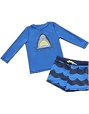 7-Mi Traje de baño al Aire Libre Conjunto Camisa Larga y Corta 2pcs Camisas