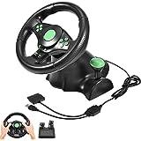 Volante esportivo de corrida, volante de corrida de vibração para jogos para XBOX 360/PS2/PS3/PC com roda de corrida USB