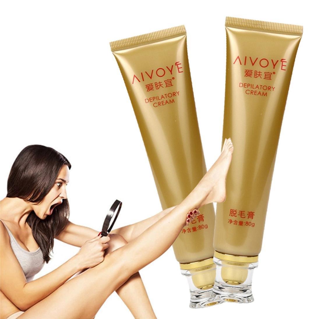 Rawdah Crème d'épilation permanente Arrêter l'élimination des inhibiteurs de croissance des cheveux Puissante Hair Removal Cream