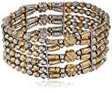Best 1928 Jewelry Bracelets - 1928 Jewelry Gold-Tone and Silver-Tone 6-Row Stretch Bracelet Review
