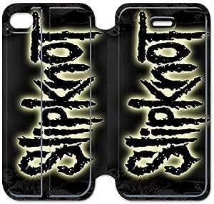 iPhone 4 4s Funda, GIORNNHUG8413 iPhone 4 4s Flip Funda, Lujo Manera Cuero PU Flip Funda cubierta para iPhone 4 4s (Slipknot)