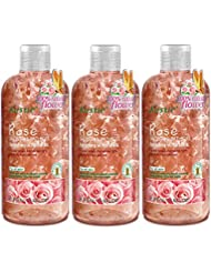 Rose Flower Petals Body Wash - Shower and Bath Gel - Handpicked Natural Flower Petals - Rose Essential Oil - Refreshing and Romantic - Paraben Free - For All Skin (3 x 380ml /12.8 Oz)