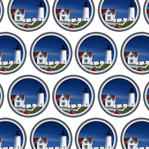 (Premium Gift Wrap Wrapping Paper Roll Places and Things - Nubble Light Lighthouse Maine ME)