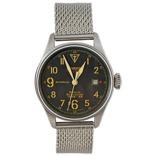 Junkers Reloj Automático Limited Edition Berlin bloqueo 1948 - 49 con milanais pulsera Número Index fluorescente: Amazon.es: Relojes