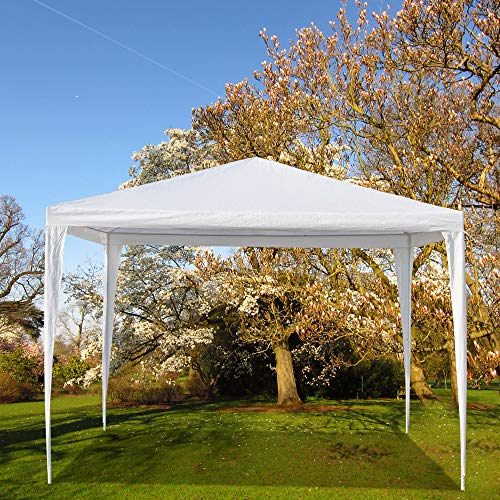 Benlet 10FT X 10FT Waterproof Tent Waterproof Outdoor Party Event Wedding Big Canopy Tent with Spiral Tubes for BBQ Beach Shelter White